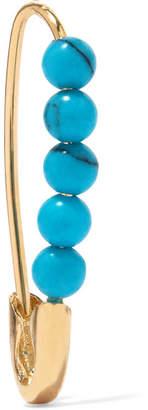 Loren Stewart 14-karat Gold Turquoise Earring