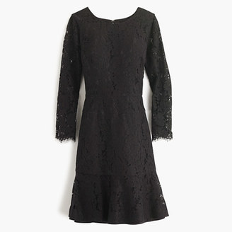 Petite long-sleeve dress in floral lace $178 thestylecure.com