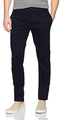 Armani Exchange A|X Men's Twill Chinos with Back Zipper Pockets