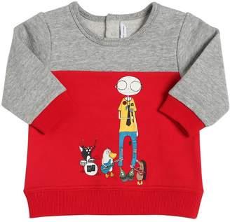 Little Marc Jacobs Color Block Cotton Sweatshirt