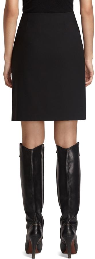 Brooks Brothers Petite Solid Skirt