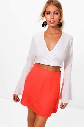 boohoo Cassie Chiffon Ra Ra Skirt