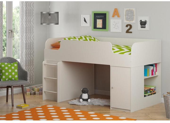 Cosco Cosco Elements Toy Box Bookcase with Door in White