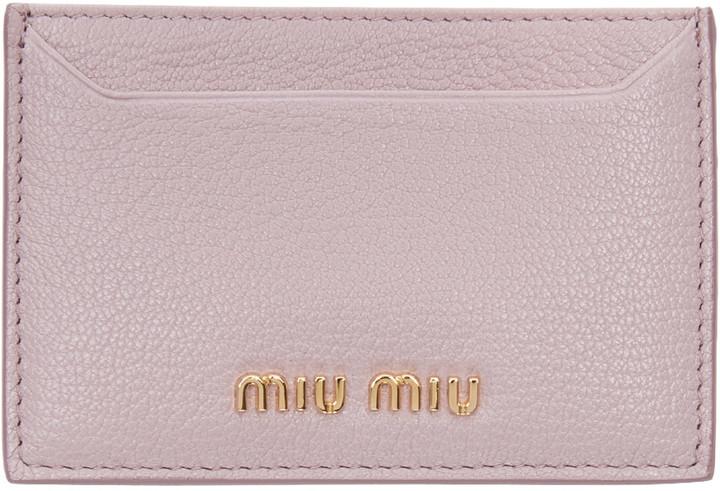 Miu MiuMiu Miu Pink Card Holder