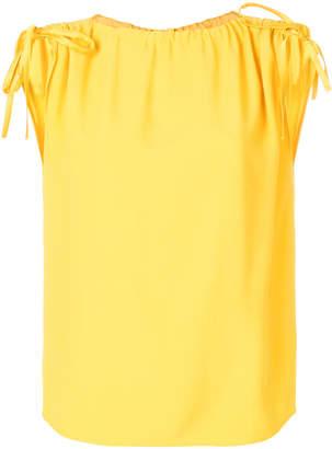 RED Valentino drawstring sleeve top