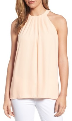 Women's Cece Pleat Halter Style Blouse $79 thestylecure.com