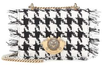 Balmain Baby Ring Box tweed shoulder bag