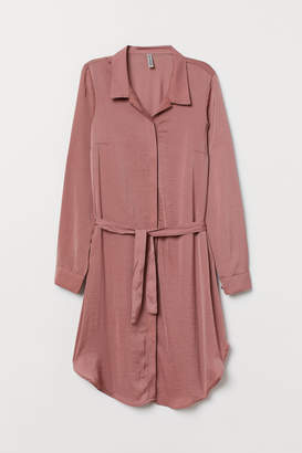 H&M Shirt Dress with Tie Belt - Pink