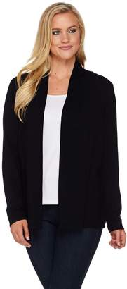 Susan Graver Rayon Nylon Open Front Long Sleeve Cardigan