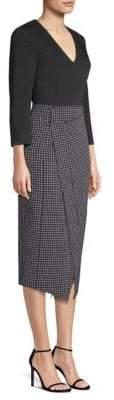Jason Wu Check Crepe Asymmetric Dress