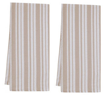 S4 S/4 Basket Weave Kitchen Towels, Oatmeal