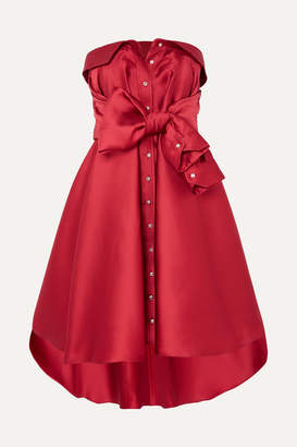 Alexis Mabille Tie-detailed Faille Mini Dress - Red