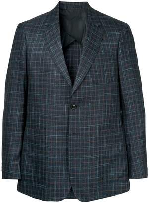 Cerruti checked single breasted blazer