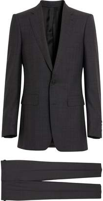 Burberry Slim Fit Prince of Wales Check Wool Silk Suit