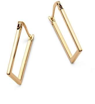 Moon & Meadow Rectangular Hoop Earrings in 14K Yellow Gold - 100% Exclusive