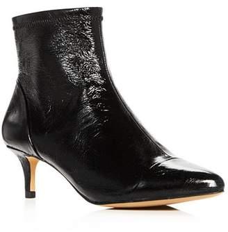 Rebecca Minkoff Women's Siya Leather Cap Toe Kitten-Heel Booties