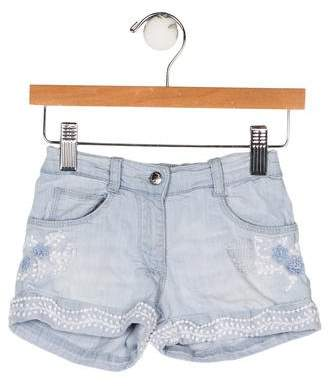 Ermanno Scervino Girls' Embroidered Shorts