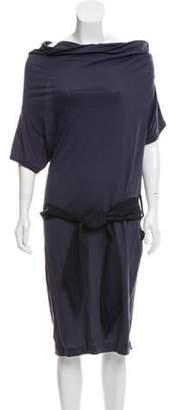 Lanvin Belted Mini Dress Navy Belted Mini Dress