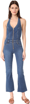 Joe's Jeans Micro Flare Overalls $298 thestylecure.com