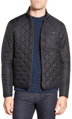 Barbour 'Axle' Slim Fit Diamond Quilted Moto Jacket $199 thestylecure.com