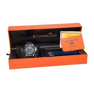 Stuhrling Original Mens Black Strap Watch-Sp14976