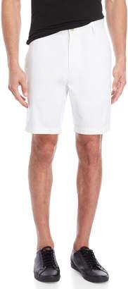 Nautica Bright White Flat Front Twill Shorts
