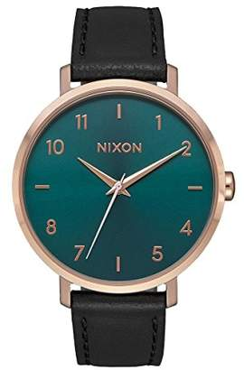 Nixon Women's Analogue Quartz Watch with Leather Strap A1091-2805-00