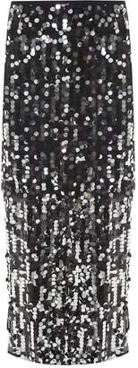 MM6 MAISON MARGIELA Sequin-embellished Tulle Wrap Skirt