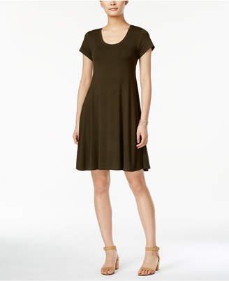 Style&Co. Style & Co Petite Short-Sleeve A-Line Dress