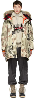 Woolrich John Rich and Bros Beige Griffin Edition Down Camo Atlantic Parka