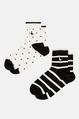 Jack Wills Skelby 2 Pack Ankle Socks