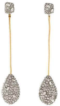 Alexis Bittar Crystal Pavé Tear Drop Earrings