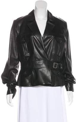 Christian Dior Belted Leather Jacket