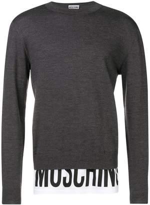 Moschino layered look sweater
