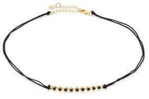 Jules Smith Tulum Crystal & Braided Silk Choker $55 thestylecure.com