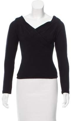 Donna Karan Wool Wrap Sweater