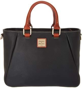 Dooney & Bourke Pebble Leather Small Zip Top Satchel