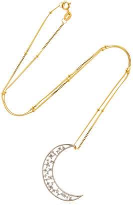 Celestial Crescent Pendant Necklace
