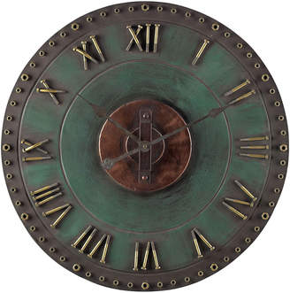 Artistic Home & Lighting Metal Roman Numeral Outdoor Wall Clock