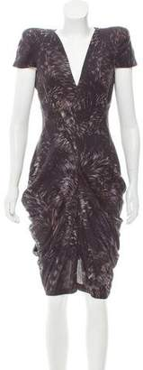 Alexander McQueen Structured Printed Dress