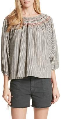 The Great The Vista Cotton & Linen Top
