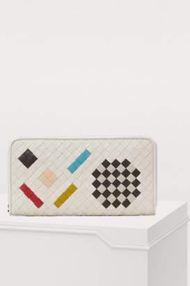 Bottega Veneta Abstract zippered wallet
