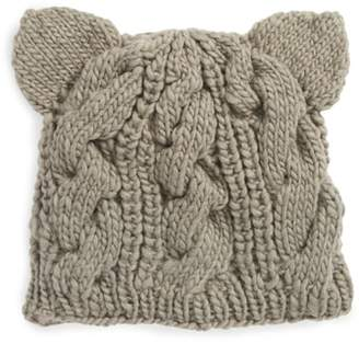 Nirvanna Designs Cable Knit Kitty Beanie