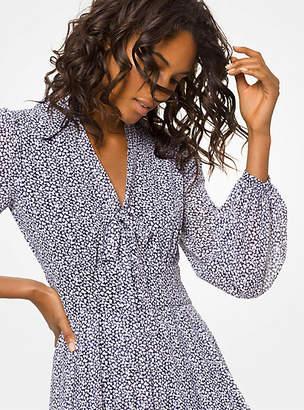 7d9e8509de Michael Kors Heart-Print Georgette Tie-Neck Dress