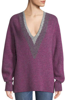 Rag & Bone Jonie V-Neck Pullover Sweater