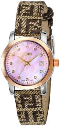 Fendi (フェンディ) - FENDI ウィメンズ ウォッチ フェイスカラー:ピンクパール ベルトカラー:ベージュxブラウン