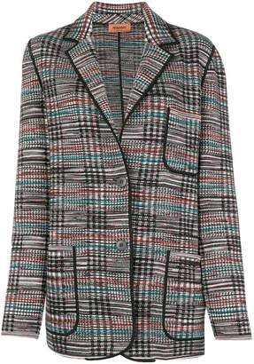 Missoni checked knitted blazer