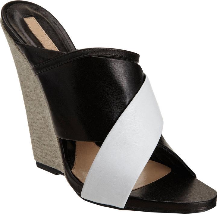 Narciso Rodriguez Criss-Cross Wedge Sandal