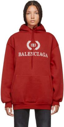 Balenciaga (バレンシアガ) - Balenciaga レッド BB フーディ
