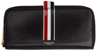 Thom Browne Black Long Half-Zip Wallet